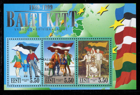Estonia Scott  377 1999 Baltic Chain stamp sheet used