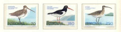 Faroe Islands Scott 28-30 1977 Birds stamp set mint NH