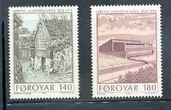 Faroe Islands Scott 39-40 1978 New Library stamp set mint NH