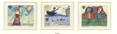 Faroe  Islands Scott 45-7 1979 International Year of the Child stamp set mint NH