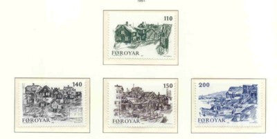 Faroe Islands Scott 59-62 1981 Old Torshavn stamp set mint NH