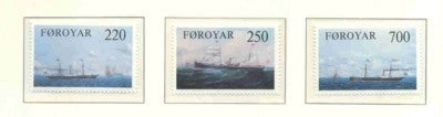 Faroe Islands Scott  90-2 1983 Cargo Ships stamp set mint NH