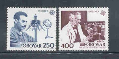 Faroe Islands Scott  95-6 1983 Europa stamp set mint NH