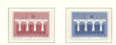 Faroe Islands Scott  106-7 1984 Europa stamp set mint NH