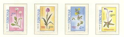Faroe Islands Scott  169-72 1988 Flowers stamp set mint NH