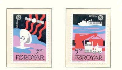 Faroe Islands Scott  173-4 1988 Europa stamp set mint NH