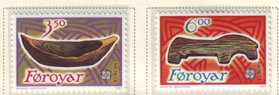 Faroe Islands Scott  191-2 1989 Europa stamp set mint NH