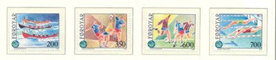 Faroe Islands Scott  193-6 1989 Island Games stamp set mint NH