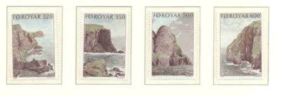 Faroe Islands Scott  197-200 1989 I Bird Cliffs Suduroy stamp set mint NH