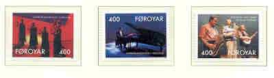 Faroe Islands Scott 247-9 1993 Nordic House Entertainers stamp set mint NH