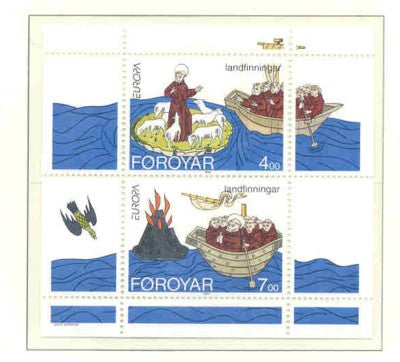 Faroe Islands Scott 265a 1994 Europa St Brendan stamp sheet mint NH