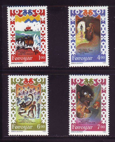 Faroe Islands Scott 270-3 1994  Brusajokli's Lay stamp set mint NH