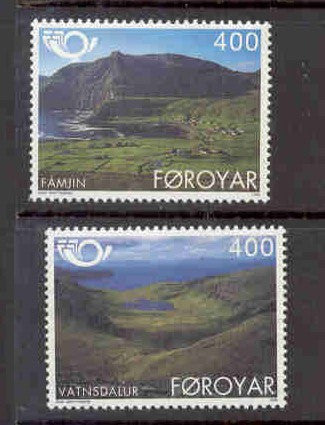 Faroe Islands Scott 280-1 1995 Tourism Nordic stamp set mint NH
