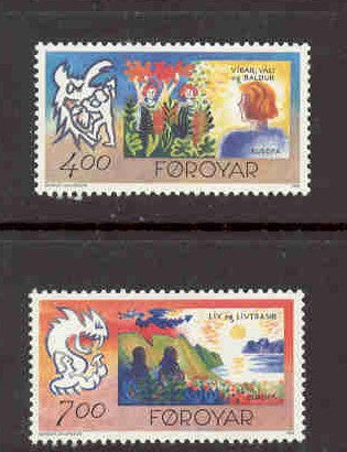 Faroe Islands Scott 282-3 1995 Europa stamp set mint NH