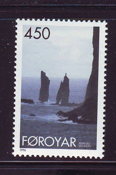 Faroe Islands Scott  295 1996 Rocky Coast stamp mint NH