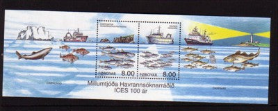 Faroe Islands Scott 426 2002 Sea Exploration stamp sheet mint NH