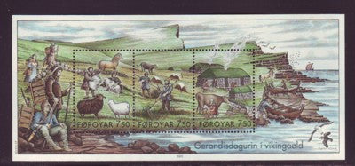 Faroe Islands Scott 452 2005 Viking Lifestamp sheet mint NH
