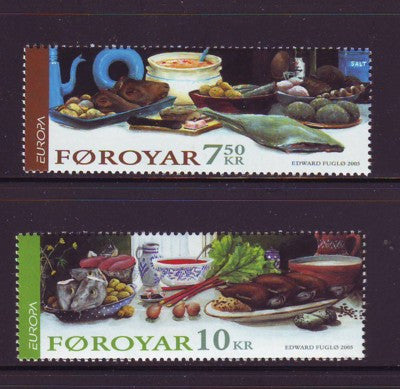 Faroe Islands Scott  456-7 2005 Europa stamp set mint NH