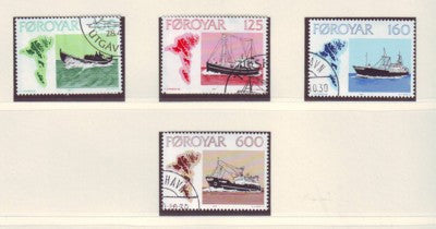 Faroe Islands Scott 24-7 1977 Fishing Vessels stamp set used