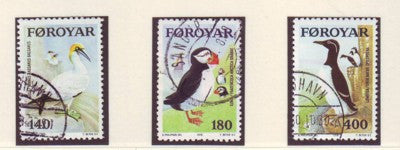 Faroe Islands Scott 36-8 1978 Sea Birds stamp set used