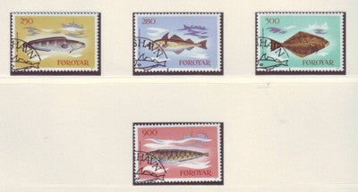 Faroe Islands Scott  97-100 1983 Fish stamp set used