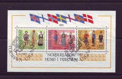 Faroe Islands Scott  101 1983  Traditional Costumes stamp sheet used