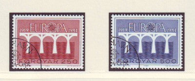 Faroe Islands Scott  106-7 1984 Europa stamp set used
