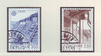 Faroe Islands Scott  156-7 1987 Europa stamp set used