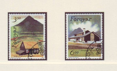 Faroe Islands Scott  205-6 1990 Europa stamp set used
