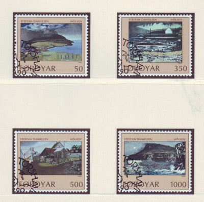 Faroe  Islands Scott 212-15 1990 Daniellsen Paintings stamp set used