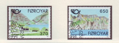 Faroe  Islands Scott 226-7 1991 Saksun & Vestmanna stamp set  used