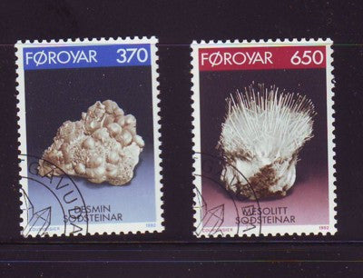 Faroe Islands Scott 241-2 1992 Minerals stamp set used