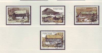 Faroe Islands Scott 243-6 1992 Traditional Houses stamp set used