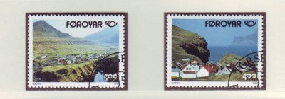 Faroe Islands Scott 250-1 1993 Gjogv stamp set used