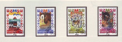 Faroe Islands Scott 270-3 1994  Brusajokli's Lay stamp set used