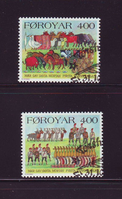 Faroe Islands Scott 274-5 1994 Christmas stamp set used
