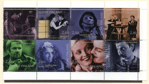 Finland Scott  1003a 1996 Movies stamp booklet pane  mint NH