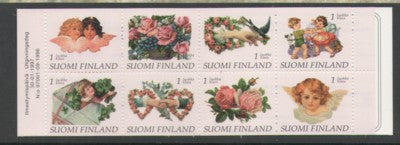 Finland Scott  1033a 1997 Greetings  stamp booklet pane mint NH