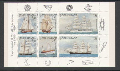 Finland Scott  1047a 1997 Sailing Ships stamp booklet pane mint NH