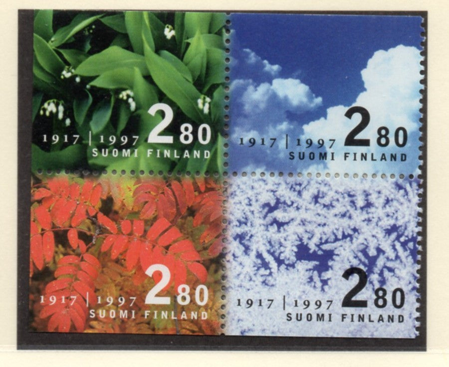 Finland Scott  1049-52 1997 80th Anniversary Independence stamp set  mint NH
