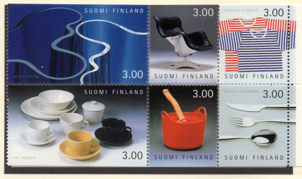 Finland Scott  1094a 1998 Finnish design stamp booklet pane mint NH
