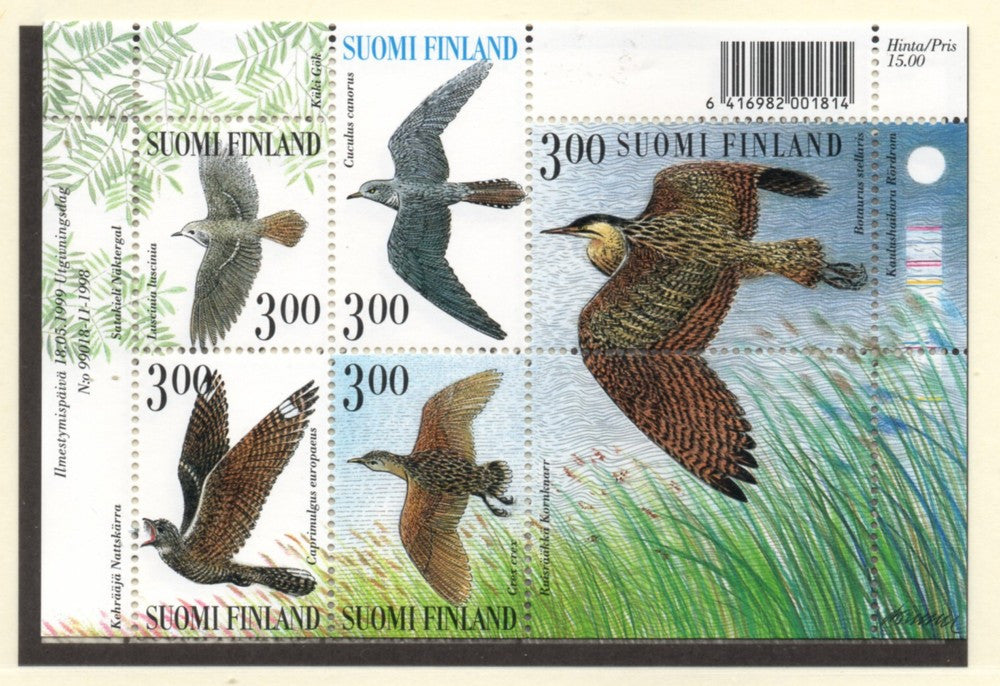 Finland Scott  1113 1999 Birds stamp sheet mint NH