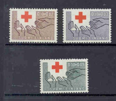 Finland Scott  B166-68 1963 Red Cross stamp set  mint NH
