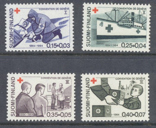Finland Scott  B169-72 1964 Red Cross stamp set  mint NH