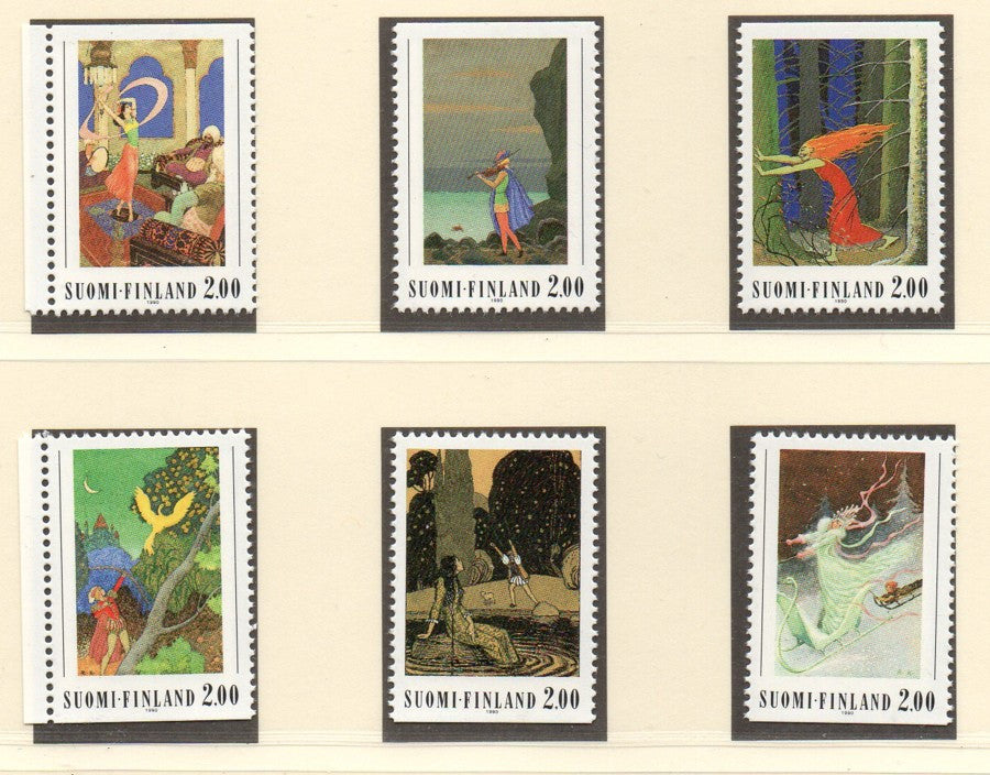 Finland Scott  820-5 1990 Fairy Tale Illustration stamp set mint NH