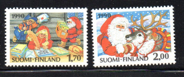 Finland Scott  827-8 1990 Christmas stamp set mint NH