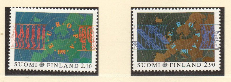 Finland Scott  866-7 1991 Europa stamp set mint NH