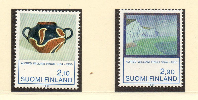 Finland Scott  868-9 1991 Art by Finch stamp set mint NH