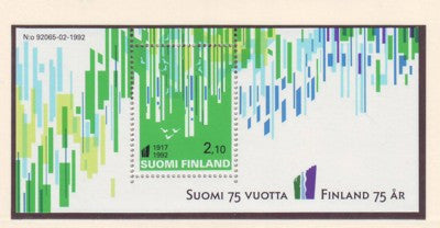 Finland Scott  897 1992  75th Anniversary stamp sheet mint NH