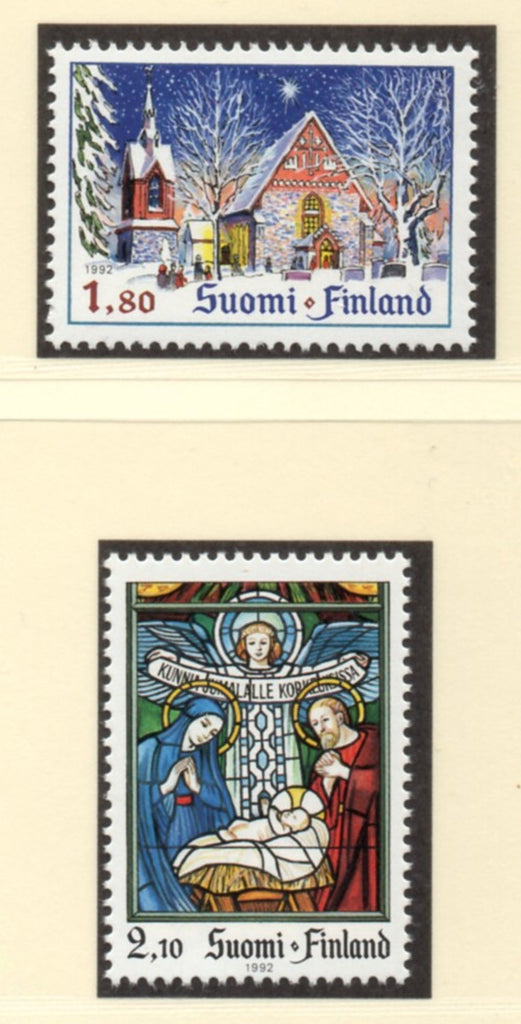 Finland Scott  903-4 1992  Christmas stamp set  mint NH